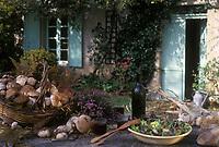 """Europe/France/Midi-Pyrénées/81/Tarn/Lacaune : Salade en chaud-froid de cèpes de la montagne Noire - Recette de Claude Calas du restaurant """"Calas"""""""