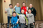 Peter Doyle, Cian O'Neill, Edward Sheehy, Jack Doyle, Conor Kirby, Graham Sheehy and Darragh Maloney . enjoying the Tralee Parnells fundraiser Race Night at the Rose  Hotel on Saturday