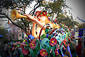 The super-krewe Endymion parade rolls in New Orleans, Saturday, Feb. 17, 2007....
