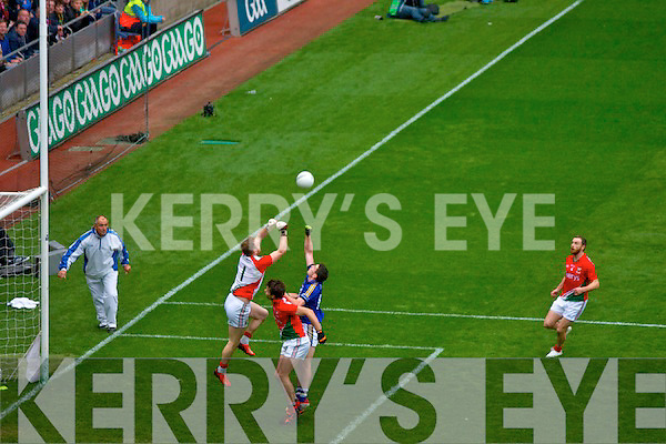 Kerry in action against  Mayo in the All Ireland Senior Football Semi Final in Croke Park on 24th August 2014.