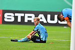 11.08.2019, Carl-Benz-Stadion, Mannheim, GER, DFB Pokal, 1. Runde, SV Waldhof Mannheim vs. Eintracht Frankfurt, <br /> <br /> DFL REGULATIONS PROHIBIT ANY USE OF PHOTOGRAPHS AS IMAGE SEQUENCES AND/OR QUASI-VIDEO.<br /> <br /> im Bild: Frust bei Marcel Seegert (SV Waldhof Mannheim #5) und Kevin Conrad (SV Waldhof Mannheim #4)<br /> <br /> Foto © nordphoto / Fabisch