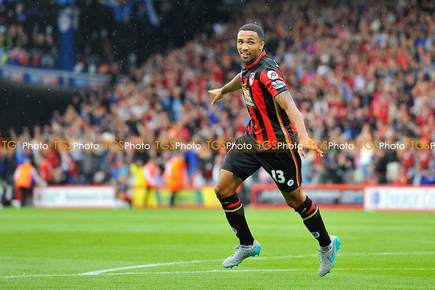 Callum Wilson of AFC Bournemouth celebrates his goal during AFC Bournemouth vs Leicester City