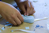 Making a model mobile phone, State Secondary Roman Catholic school.