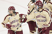 Kristyn Capizzano (BC - 7), Lexi Bender (BC - 21) - The Boston College Eagles defeated the visiting University of Maine Black Bears 5 to 1 on Sunday, October 6, 2013, in their Hockey East season opener at Kelley Rink in Conte Forum in Chestnut Hill, Massachusetts.