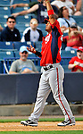 5 March 2011: Washington Nationals' infielder Alberto Gonzalez gets Austin Romine out at third during a Spring Training game against the New York Yankees at George M. Steinbrenner Field in Tampa, Florida. The Nationals defeated the Yankees 10-8 in Grapefruit League action. Mandatory Credit: Ed Wolfstein Photo