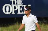 Yuta Ikeda (JPN) on the 14th green during Thursday's Round 1 of the 145th Open Championship held at Royal Troon Golf Club, Troon, Ayreshire, Scotland. 14th July 2016.<br /> Picture: Eoin Clarke | Golffile<br /> <br /> <br /> All photos usage must carry mandatory copyright credit (&copy; Golffile | Eoin Clarke)