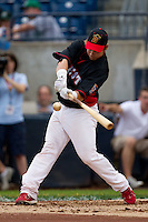 Cody Stanley (35) of the Quad City River Bandits makes contact during the Midwest League All-Star Home Run Derby at Modern Woodmen Park on June 20, 2011 in Davenport, Iowa. (David Welker / Four Seam Images)