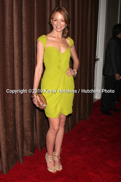Jayma Mills.arriving at the 2010 Costume Designer's Guild Awards.Beverly Hilton Hotel.Beverly Hills, CA.February 25, 2010.©2010 Kathy Hutchins / Hutchins Photo....