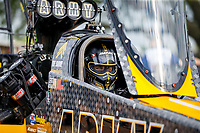 Apr 22, 2017; Baytown, TX, USA; NHRA top fuel driver Tony Schumacher during qualifying for the Springnationals at Royal Purple Raceway. Mandatory Credit: Mark J. Rebilas-USA TODAY Sports