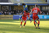 5th November 2017, Damson Park, Solihull, England; FA Cup first round, Solihull Moors versus Wycombe Wanderers; Akwasi Asante of Solihull Moors tries to get his head to the ball