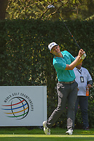 Justin Rose (GBR) watches his tee shot on 12 during round 2 of the World Golf Championships, Mexico, Club De Golf Chapultepec, Mexico City, Mexico. 3/2/2018.<br /> Picture: Golffile | Ken Murray<br /> <br /> <br /> All photo usage must carry mandatory copyright credit (&copy; Golffile | Ken Murray)