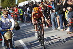 Anna Van Der Breggen (NED) attacks during the Women Elite Road Race of the 2018 UCI Road World Championships running 156.2km from Kufstein to Innsbruck, Innsbruck-Tirol, Austria 2018. 29th September 2018.<br /> Picture: Innsbruck-Tirol 2018/BettiniPhoto | Cyclefile<br /> <br /> <br /> All photos usage must carry mandatory copyright credit (&copy; Cyclefile | Innsbruck-Tirol 2018/BettiniPhoto)