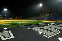 Rain delay at Wake Forest Baseball Park on March 23, 2012 in Winston-Salem, North Carolina.  (Brian Westerholt/Four Seam Images)