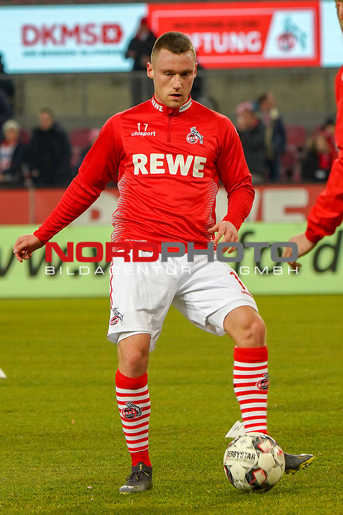 08.02.2019, RheinEnergieStadion, Koeln, GER, 2. FBL, 1.FC Koeln vs. FC St. Pauli,<br />  <br /> DFL regulations prohibit any use of photographs as image sequences and/or quasi-video<br /> <br /> im Bild / picture shows: <br /> Christian Clemens (FC Koeln #17),     beim Aufwaermen, Einzelaktion,  <br /> <br /> Foto &copy; nordphoto / Meuter