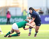 2nd February 2020; Energia Park, Dublin, Leinster, Ireland; International Womens Rugby, Six Nations, Ireland versus Scotland; Leah Bartlett (Scotland) is tackled by Edel McMahon (Ireland)