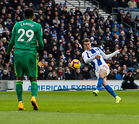 Brighton & Hove Albion's Solly March (right) <br /> <br /> Photographer David Horton/CameraSport<br /> <br /> The Premier League - Brighton and Hove Albion v Watford - Saturday 2nd February 2019 - The Amex Stadium - Brighton<br /> <br /> World Copyright © 2019 CameraSport. All rights reserved. 43 Linden Ave. Countesthorpe. Leicester. England. LE8 5PG - Tel: +44 (0) 116 277 4147 - admin@camerasport.com - www.camerasport.com