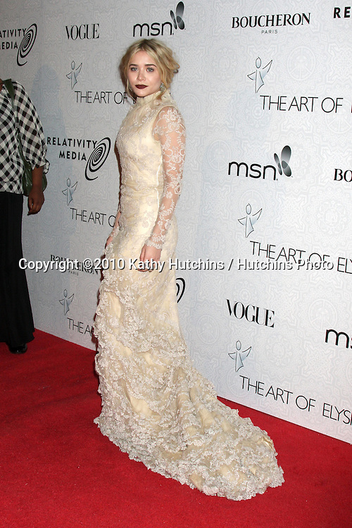 Ashley Olsen.arriving at the 3rd Annual Art of Elysium Gala.Rooftop of Parking Garage across from Beverly Hilton Hotel.Beverly Hills, CA.January 16, 2010.©2010 Kathy Hutchins / Hutchins Photo....