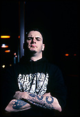 Pantera - Phil Anselmo - photographed in Chicago, Illinoos USA - April 1991. <br />  Photo credit: Gene Ambo/IconicPix
