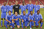11 March 2008: Cuba's starting eleven.  Front ow (l to r): Yenier Bermudez (CUB) (3), Leonel Duarte (CUB) (19), Alianni Urgelles (CUB) (6), Livan Vasconcelos (CUB) (7), Roberto Linares (CUB) (9).  Back row (l to r): Erlys Garcia Baro (CUB) (2), Yordany Alvarez (CUB) (10), Jose Manuel Miranda (CUB) (1), Enrique Villaurrutia (CUB) (11), Yendry Diaz (CUB) (5), Juan Carlos Martinez (CUB) (15). The United States U-23 Men's National Team tied the Cuba U-23 Men's National Team 1-1 at Raymond James Stadium in Tampa, FL in a Group A game during the 2008 CONCACAF's Men's Olympic Qualifying Tournament.