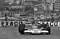 MONTE CARLO, MONACO - MAY 30: James Hunt of Great Britain drives his McLaren M23 8-2/Ford Cosworth during practice for the Grand Prix of Monaco FIA Formula 1 race at the Circuit de Monaco temporary street circuit in Monte Carlo, Monaco on May 30, 1976.
