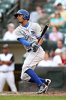 Durham Bulls designated hitter Desmond Jennings #15 during a game against the Rochester Red Wings at Frontier Field on July 18, 2011 in Rochester, New York.  Durham defeated Rochester 4-1.  (Mike Janes/Four Seam Images)