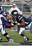 September 15, 2012: Nevada Wolf Pack lineman Chris Barker blocks against the Northwestern State Demons during their NCAA football game played at Mackay Stadium on Saturday afternoon in Reno, Nevada.