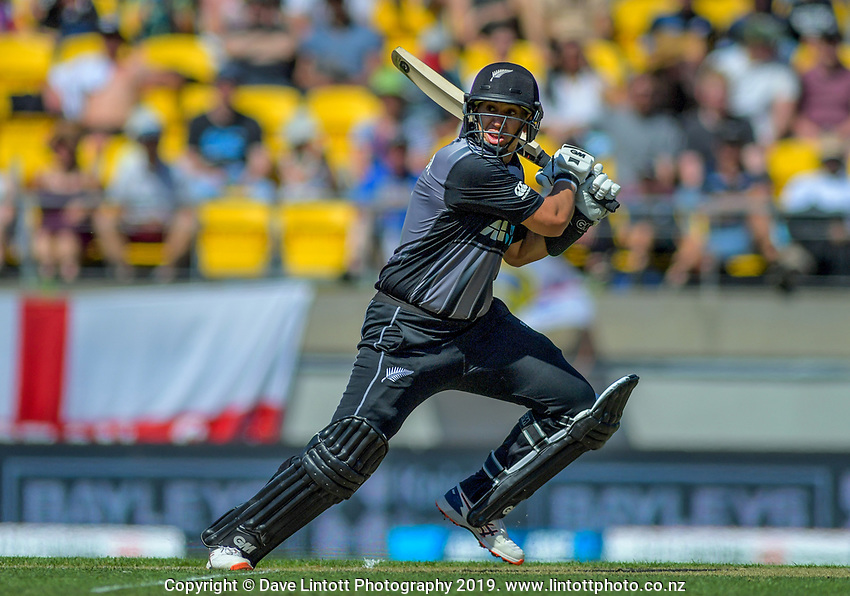Ross Taylor bats.Twenty20 International cricket match between NZ Black Caps and England at Westpac Stadium in Wellington, New Zealand on Sunday, 3 November 2019. Photo: Dave Lintott / lintottphoto.co.nz