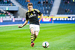 Solna 2015-04-26 Fotboll Allsvenskan AIK - &Ouml;rebro SK :  <br /> AIK:s Haukur Hauksson i aktion under matchen mellan AIK och &Ouml;rebro SK <br /> (Foto: Kenta J&ouml;nsson) Nyckelord:  AIK Gnaget Friends Arena Allsvenskan &Ouml;rebro &Ouml;SK portr&auml;tt portrait