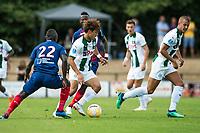 HAREN - Voetbal, FC Groningen - SM Caen, voorbereiding seizoen 2018-2019, 04-08-2018, FC Groningen speler Ritsu Doan in duel met Adama Nbengue