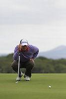 Gary Murphy (IRL) lines up his putt on the 10th green during Day 1 Thursday of The Irish Open presented by Discover Ireland at Killarney Golf & Fishing Club on 28th July 2011 (Photo Jenny Matthews/www.golffile.ie)