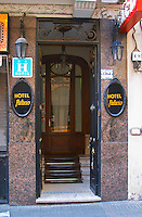 The entrance to the Hotel Palacio Palace Hotel in the city Montevideo, Uruguay, South America