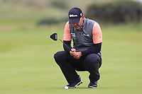 Paul Waring (ENG) on the 14th green during Round 4 of the Alfred Dunhill Links Championship 2019 at St. Andrews Golf CLub, Fife, Scotland. 29/09/2019.<br /> Picture Thos Caffrey / Golffile.ie<br /> <br /> All photo usage must carry mandatory copyright credit (© Golffile | Thos Caffrey)