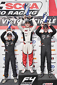 2017 F4 US Championship<br /> Rounds 1-2-3<br /> Homestead-Miami Speedway, Homestead, FL USA<br /> Saturday 8 April 2017<br /> Race #1 podium with race winner Timo Reger, second with Benjamin Pedersen and third with Jacob Loomis<br /> World Copyright: Dan R. Boyd/LAT Images