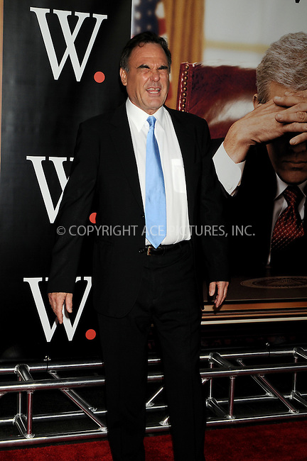WWW.ACEPIXS.COM . . . . .  ....October 14, 2008. New York City.....Director Oliver Stone attends the 'W.' New York Premiere held at the Ziegfeld Theater on October 14, 2008 in New York City.......Please byline: AJ Sokalner - ACEPIXS.COM.... *** ***..Ace Pictures, Inc:  ..Philip Vaughan (646) 769 0430..e-mail: info@acepixs.com..web: http://www.acepixs.com
