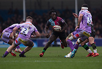Harlequins' Gabriel Ibitoye in action during todays match<br /> <br /> Photographer Bob Bradford/CameraSport<br /> <br /> Premiership Rugby Cup Semi Final - Exeter Chiefs v Harlequins - Sunday 2nd February 2020 - Sandy Park - Exeter<br /> <br /> World Copyright © 2018 CameraSport. All rights reserved. 43 Linden Ave. Countesthorpe. Leicester. England. LE8 5PG - Tel: +44 (0) 116 277 4147 - admin@camerasport.com - www.camerasport.com