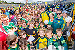 Sean O'Shea with fans at the Kerry GAA Open Day Meet and Greet, at Fitzgerald Stadium, Killarney on Saturday last.