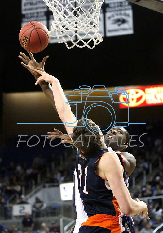 Images from a second round NIT college basketball game in Reno, Nev. , on Sunday, March 18, 2012. Nevada won 75-67..Photo by Cathleen Allison