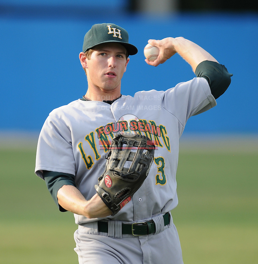 July 16, 2009: Outfielder Alex Presley (3) of the Lynchburg Hillcats, Carolina League affiliate of the Pittsburgh Pirates, in a game at G. Richard Pfitzner Stadium in Woodbridge, Va. Photo by: Tom Priddy/Four Seam Images
