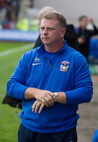 Mark Robins (Coventry  manager) during Grimsby Town vs Coventry City, Sky Bet EFL League 2 Football at Blundell Park on 12th August 2017