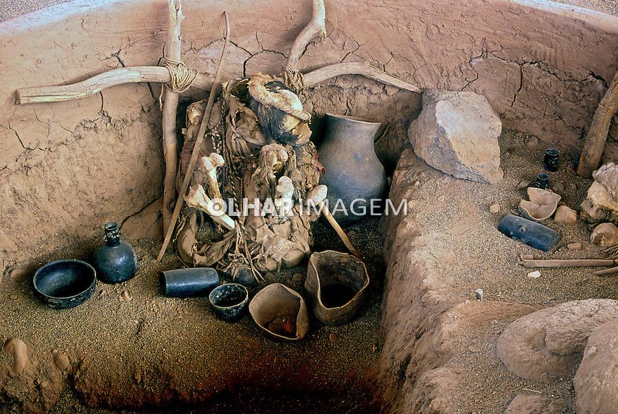 Museu arqueológico no Deserto do Atacama. Chile. 1998. Foto de Vinícius Romanini.