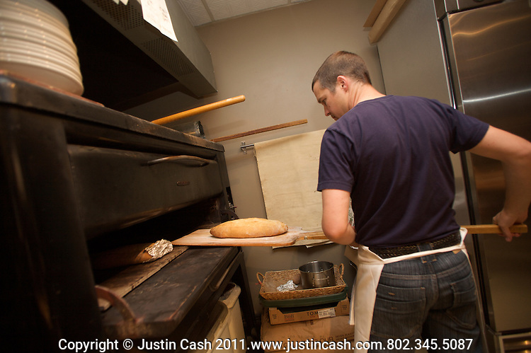 Pane e Salute owner Caleb Barber, Woodstock, Vermont. 2011. Editorial Use ONLY.