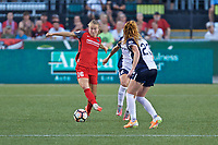 Portland, OR - Saturday July 22, 2017: Emily Sonnett during a regular season National Women's Soccer League (NWSL) match between the Portland Thorns FC and the Washington Spirit at Providence Park.