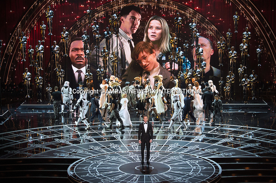 22.02.2015; Hollywood, California: 87TH OSCARS - LADY GAGA, RITA ORA, JENNIFER HUDSON AND JOHN LEGEND<br />perform during the Annual Academy Awards Live Telecast, Dolby Theatre, Hollywood.<br />Mandatory Photo Credit: NEWSPIX INTERNATIONAL<br /><br />              **ALL FEES PAYABLE TO: &quot;NEWSPIX INTERNATIONAL&quot;**<br /><br />PHOTO CREDIT MANDATORY!!: NEWSPIX INTERNATIONAL(Failure to credit will incur a surcharge of 100% of reproduction fees)<br /><br />IMMEDIATE CONFIRMATION OF USAGE REQUIRED:<br />Newspix International, 31 Chinnery Hill, Bishop's Stortford, ENGLAND CM23 3PS<br />Tel:+441279 324672  ; Fax: +441279656877<br />Mobile:  0777568 1153<br />e-mail: info@newspixinternational.co.uk