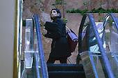 Seems Verma, president-elect's choice for Centers for Medicare and Medicaid Services administrator, is seen going up the escalators in the lobby of the Trump Tower in New York, NY, on January 10, 2017.<br /> Credit: Anthony Behar / Pool via CNP