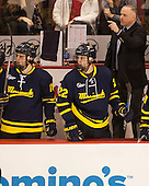 Mark Dennehy (Merrimack - Head Coach) - The Boston University Terriers defeated the visiting Merrimack College Warriors 4-0 (EN) on Friday, January 29, 2016, at Agganis Arena in Boston, Massachusetts.