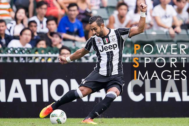 Juventus' player Medhi Benatia in action during the South China vs Juventus match of the AET International Challenge Cup on 30 July 2016 at Hong Kong Stadium, in Hong Kong, China.  Photo by Marcio Machado / Power Sport Images