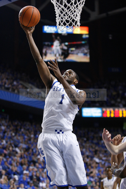 UK's Darius Miller lays the ball up against Samford at Rupp Arena on Tuesday, Dec. 20, 2011. Photo by Scott Hannigan | Staff