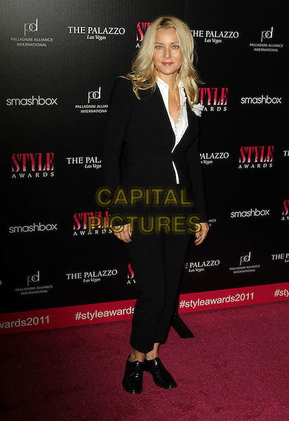 Angela Featherstone .2011 Hollywood Style Awards Sponsored By Smashbox, The Palazzo Las Vegas And Palladium Jewelry.Held At Smashbox Studios, West Hollywood, California, USA..November 13th, 2011.full length black suit  .CAP/ADM/KB.©Kevan Brooks/AdMedia/Capital Pictures.