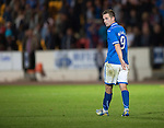 St Johnstone v FC Minsk...08.08.13 Europa League Qualifier<br /> Steven MacLean looks back as his penalty is saved and saints lose the game<br /> Picture by Graeme Hart.<br /> Copyright Perthshire Picture Agency<br /> Tel: 01738 623350  Mobile: 07990 594431