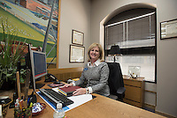 NWA Democrat-Gazette/J.T. WAMPLER Tabi Lipscomb, executive vice president and trust manager for Arvest Bank in Benton and Washington counties in her Rogers office Thursday Oct. 8, 2015. She is active with Mercy Health and Rogers Chamber of Commerce (on the board of both). A favorite project right now is the new Community Health Subcommittee of Mercy Health, focused on bringing health care to the poor and the marginalized.